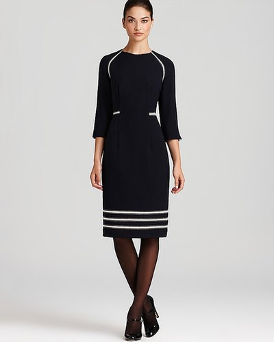 BASLER Three Quarter Sleeve Dress with Trim - Bloomingdale's Exclusive