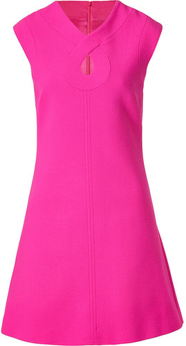 Goat Hot Pink Romeo Keyhole Wool-Crepe Shift Dress