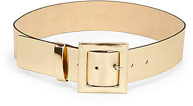 Kate Spade New York Metallic Leather Wide Belt
