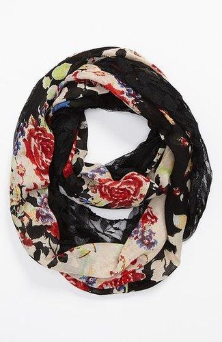 Lulu Sheer Floral Print Infinity Scarf