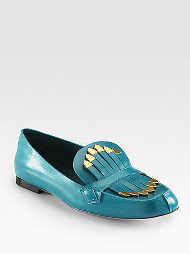 Chloe Leather Fringe Loafers