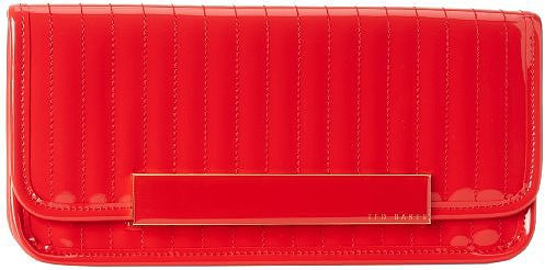 Ted Baker Inga Clutch,Red,One Size
