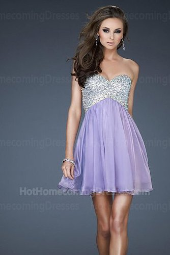 Short Sequin Princess Homecoming Dresses 2013 Wisteria with Fully Sequin Bodice