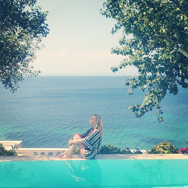 Nicky Hilton was surrounded by water.  Source: Instagram user nickyhilton