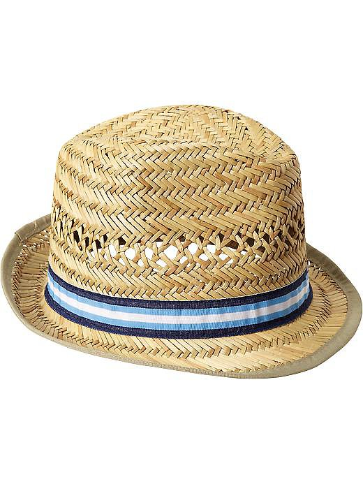 Old Navy's classic straw hat ($13) with a crisp grosgrain ribbon would work for a baby boy or girl.