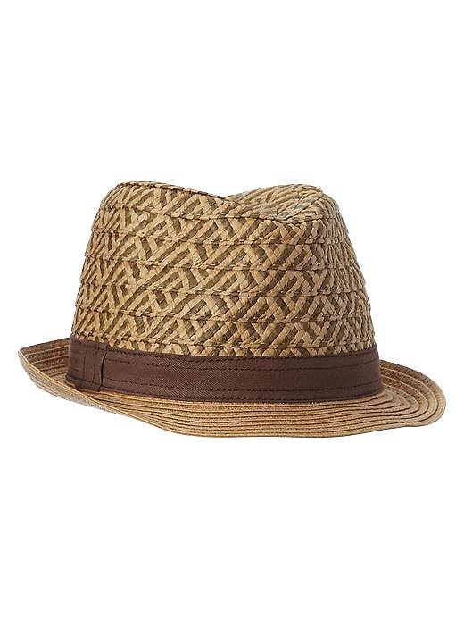 For a grown-up look in a little size, give Gap's Two-Tone Straw Fedora ($20) a whirl.