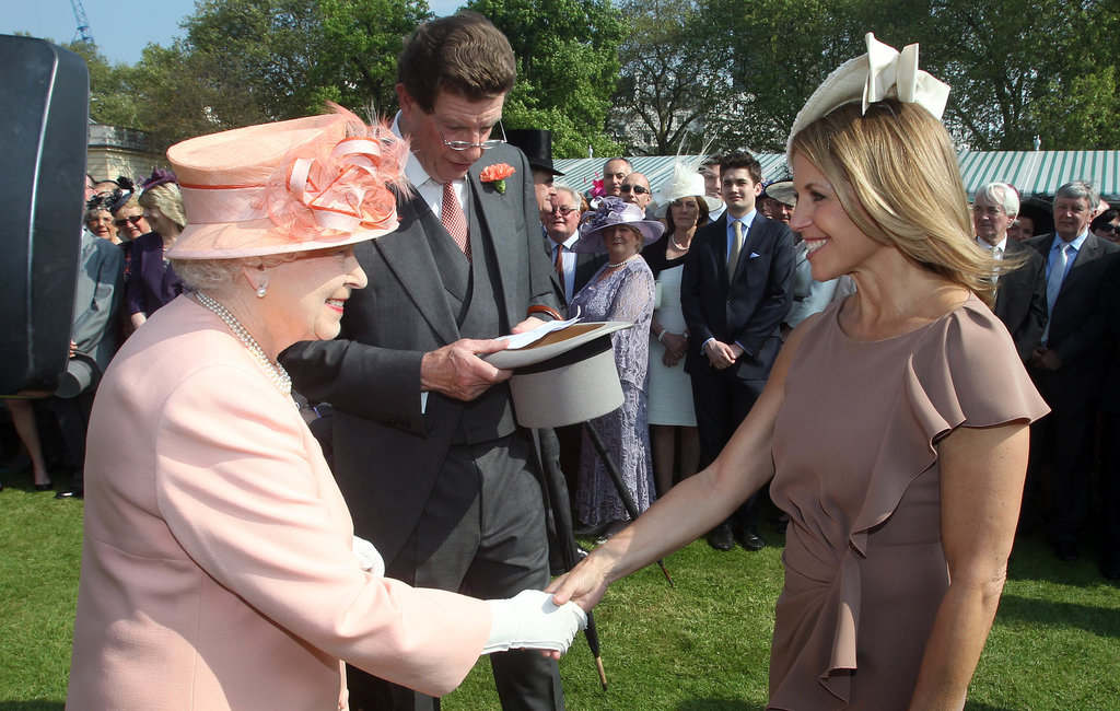 Katie Couric met Queen Elizabeth at a garden party at Buckingham Palace in May 2012.