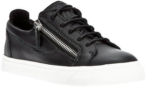 Giuseppe Zanotti Design contrast zip detail sneaker