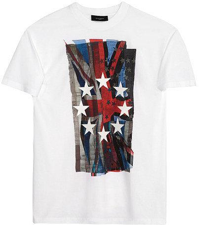 Givenchy White Union Jack T-Shirt