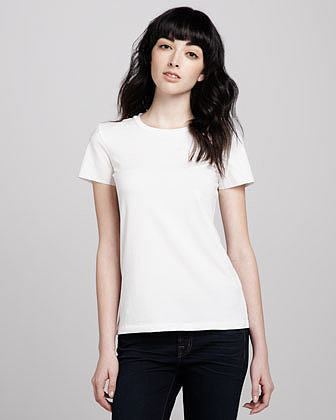 Theory Rodiona Silk Tee, White