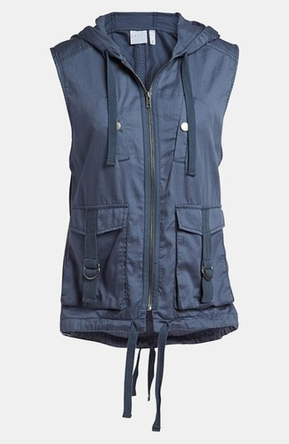 Leith 'Parka' Sleeveless Tab Hooded Vest