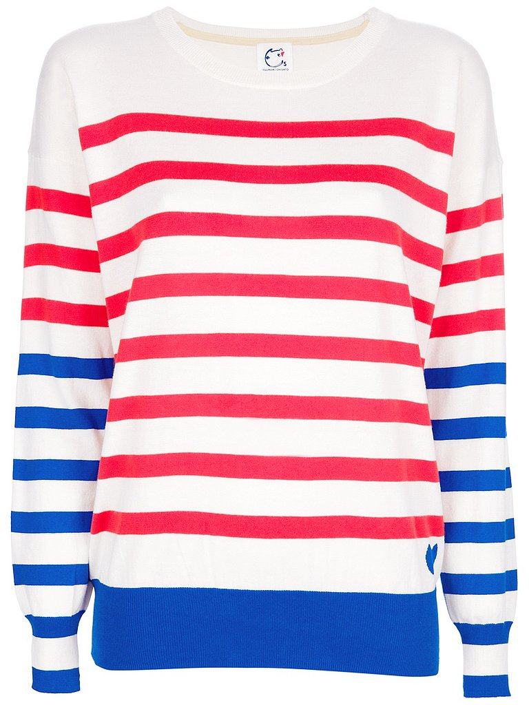 If you're celebrating the holiday somewhere chilly (including heavily air-conditioned spaces), then it'd be smart to pack a festive pullover like this striped Cats by Tsumori Chisato option ($230).