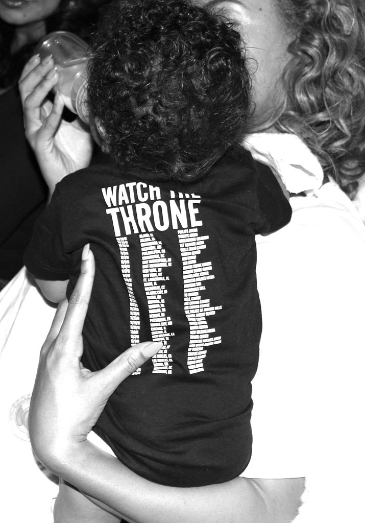 Blue sported a Watch the Throne shirt.  Source: Beyoncé on Tumblr