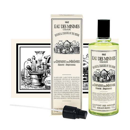 """French brand Le Couvent des Minimes is making its debut stateside, and its long list of products are all inspired by the natural beauty recipes created by monks who lived in the convent over four centuries ago. One of my favorites is the Eau des Minimes Botanical Fragrance ($35-$65), which was inspired by the """"miraculous waters"""" that were originally distilled in convents. The refreshing blend of citrus fruits, flowers, and herbs creates a light scent perfect for spritzing on all Summer long. — KD"""