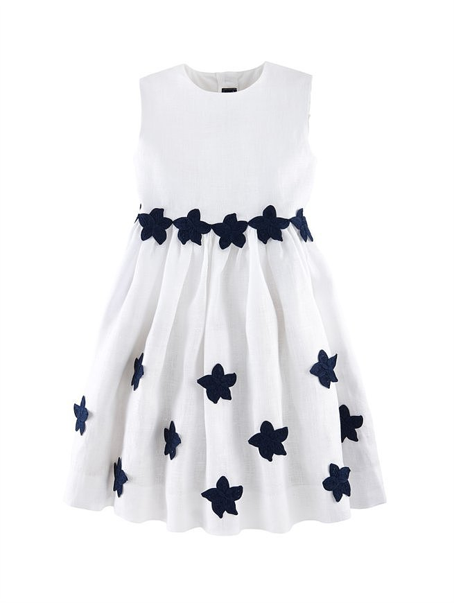 This Oscar de la Renta embroidered party dress ($375) is perfect if you're headed to a more formal Fourth of July affair.