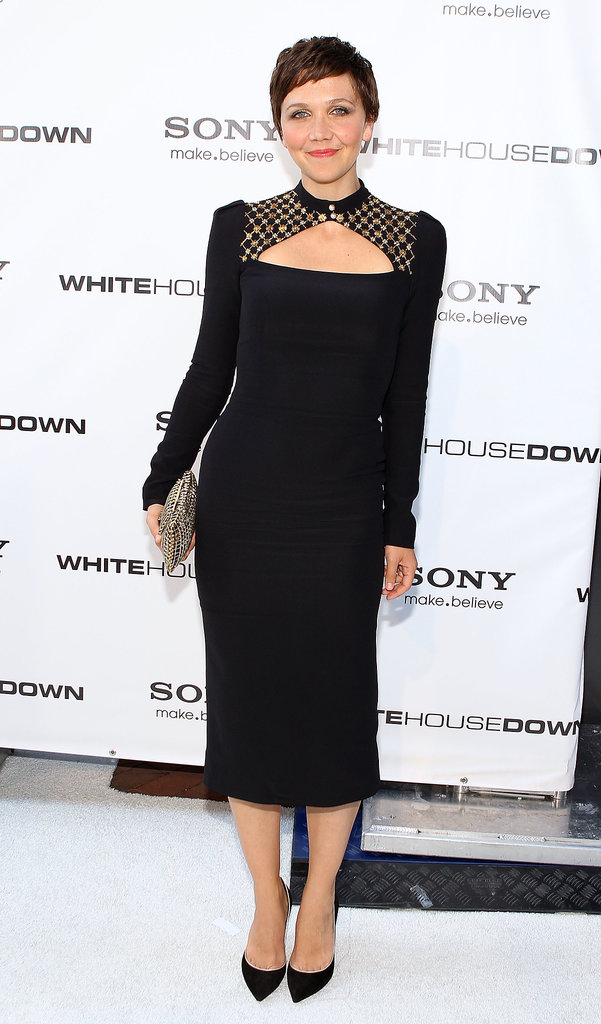 Maggie Gylllenhaal had us captivated with her looks all week — but if we had to pick favorites, we'd go with this sleek Alexander McQueen number.