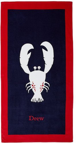 Navy/Red Lobster Beach Towel