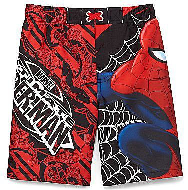 Spiderman Swim Trunks - Boys 4-10