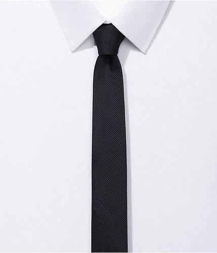 Skinny Silk Tie - Textured Solid