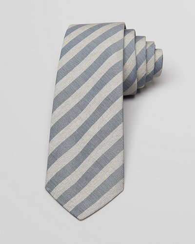 Theory End on End Bar Stripe Skinny Tie