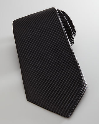 Neiman Marcus Faille Formal Tie, Black