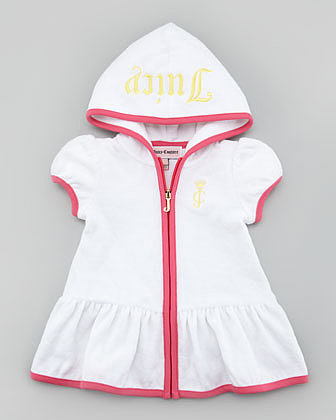 Juicy Couture Baby Hooded Velour Swim Cover-Up
