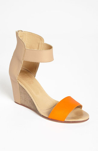 MM6 Maison Martin Margiela Two Tone Wedge Sandal