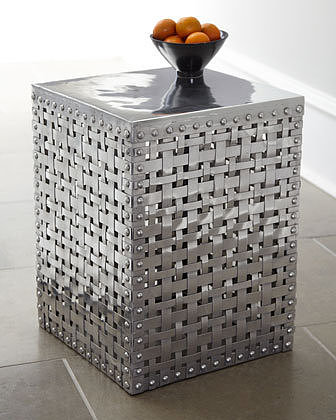 """Woven Square"" Side Table"