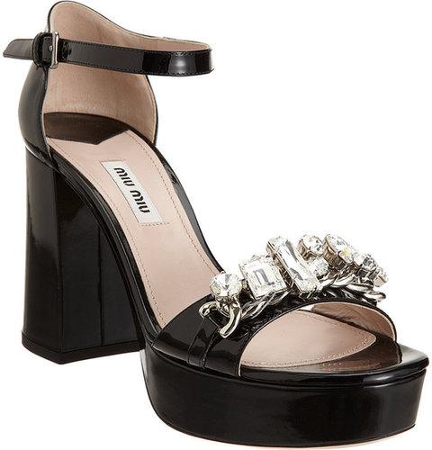 Miu Miu Jewel Band Platform Sandal