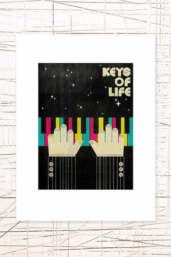 East End Prints: Keys of Life Wall Art