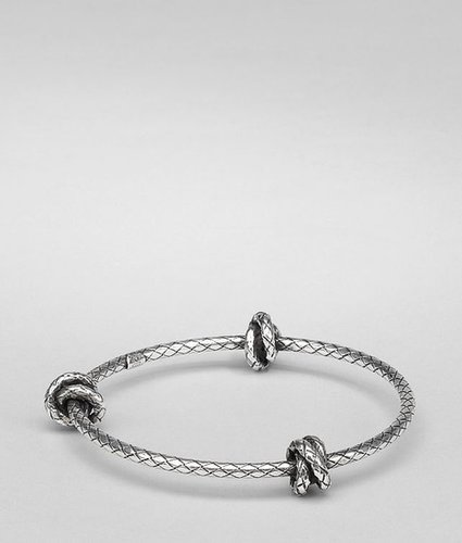 Antique silver intrecciato coaxial bracelet
