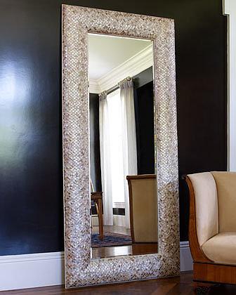 Mother-of-Pearl Floor Mirror