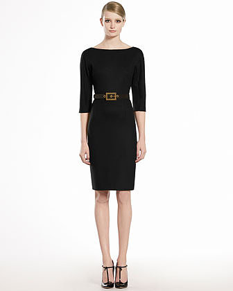 GUCCI Wool Jersey Belted Dress