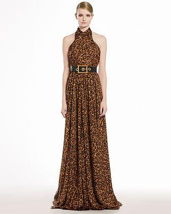 Gucci Jaguar Printed Silk Chiffon