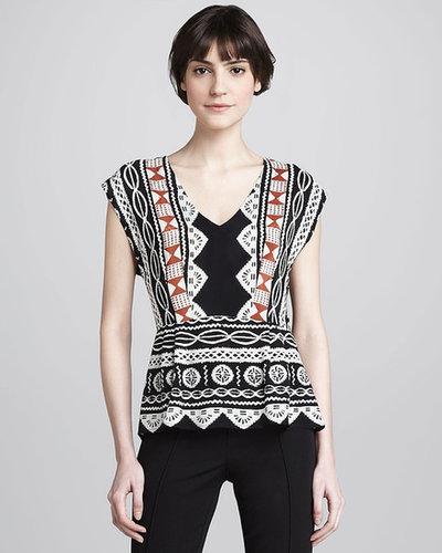 Nanette Lepore Alvarado Printed Silk Top