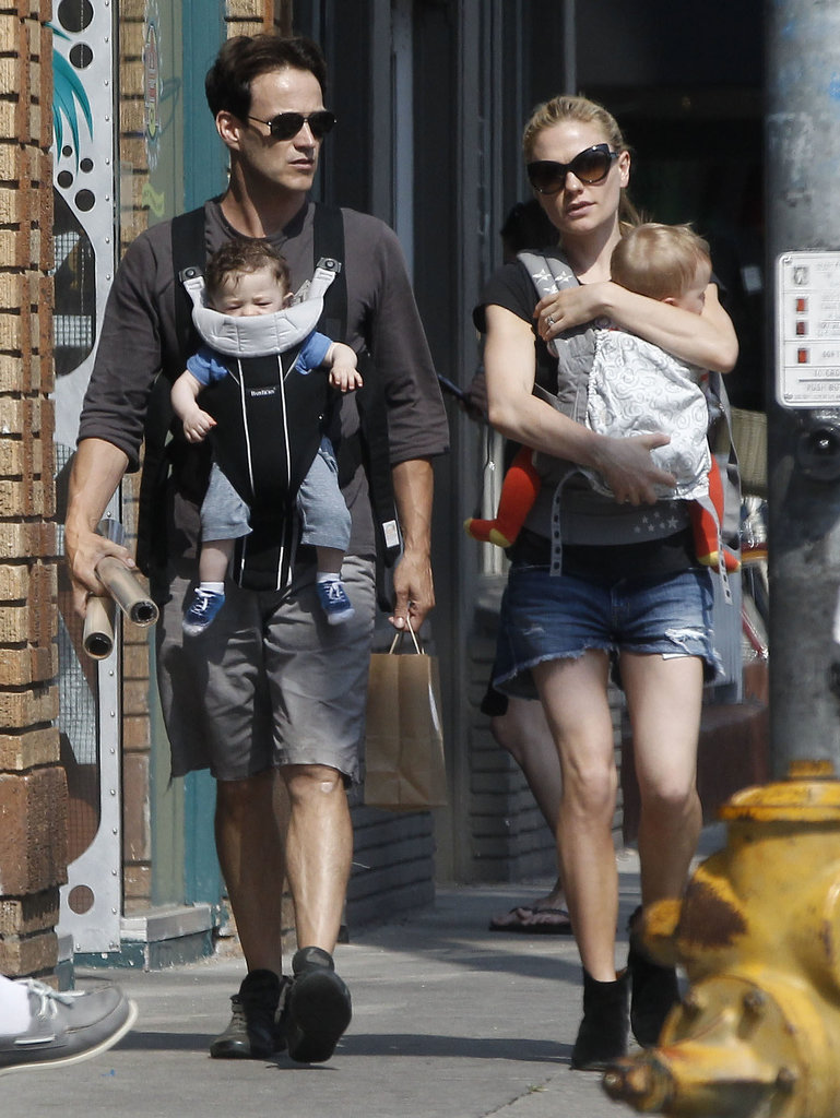 Anna Paquin and Stephen Moyer had a family day in Venice.