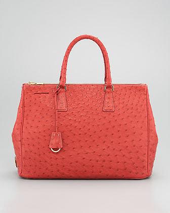 Prada Struzzo Tote Bag