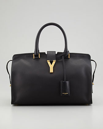 Saint Laurent Y Ligne Medium Soft Leather Bag, Black