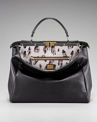 Fendi Peekaboo Calf Hair Handbag