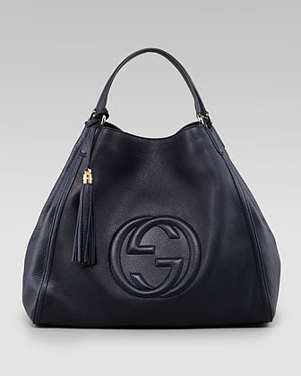 Gucci Large Soho A-Shape Hobo, Dark Navy