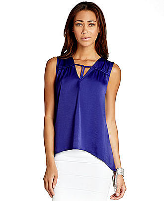 BCBGMAXAZRIA Top, Sleeveless High-Low Blouse - Tops - Women - Macy's