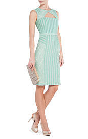 BCBGMAXAZRIA's Umi Lace Sheath Dress