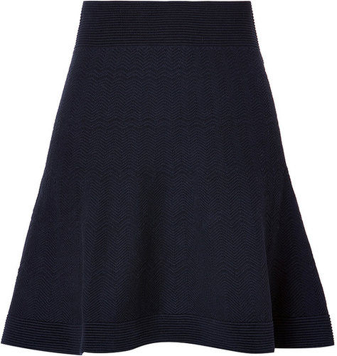 Sandro Cotton Blend Jolie Skirt in Navy
