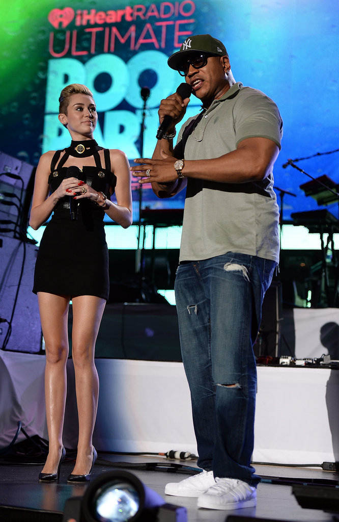 Miley Cyrus chatted with LL Cool J.