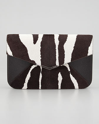 Fendi 2Jours Calf Hair Clutch/Wristlet Bag