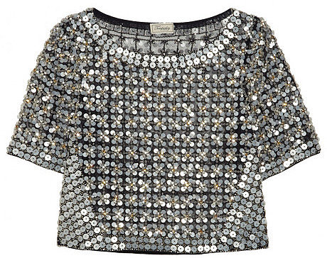 Temperley London Angeli embellished mesh top
