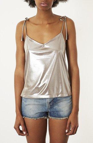 Topshop Metallic Camisole