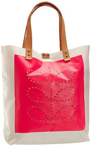 Orla Kiely Punched Stem Tarpaulin Willow 13SBTRP067-3200-00 Tote