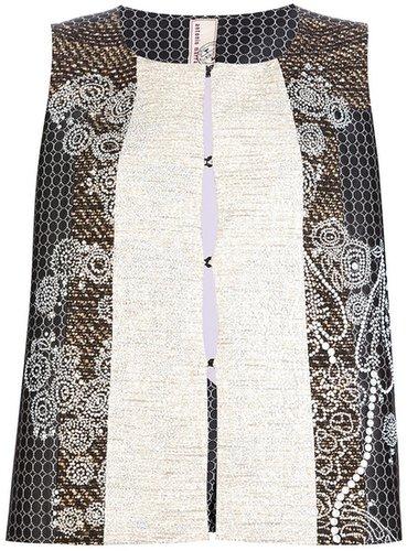 Antonio Marras floral tweed sequin waistcoat