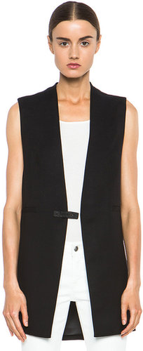 Helmut Lang Ark Suiting Vest in Black